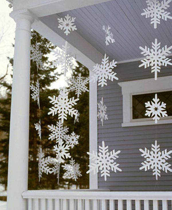 10 simple snowflakes - Patio Christmas Decorations