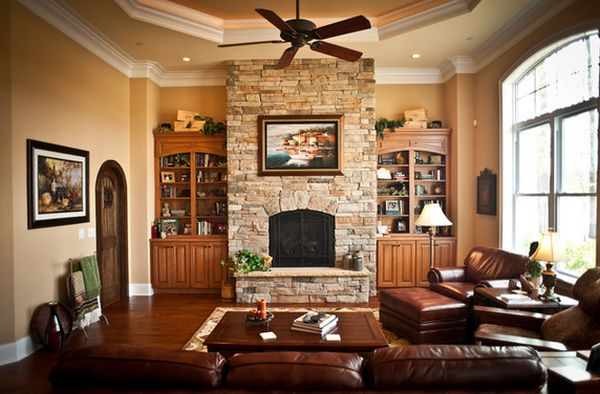 stone view in gallery - Stone Fireplace Design Ideas