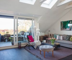 Attic Apartment With Generous Skylights And Nice Views