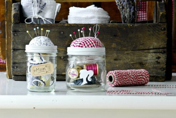 2 A Sewing Kit In Jar