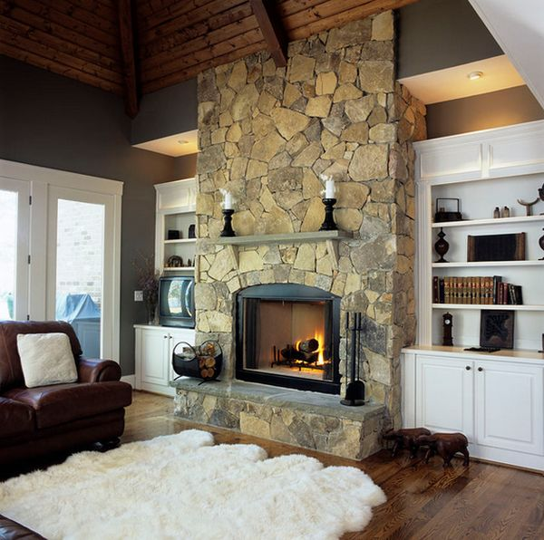 100 fireplace design ideas for a warm home during winter Fireplace plans