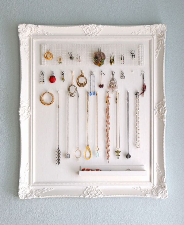 40 Ways To Stay Organized With DIY Jewelry Holders Simple How To Make A Jewelry Stand Display