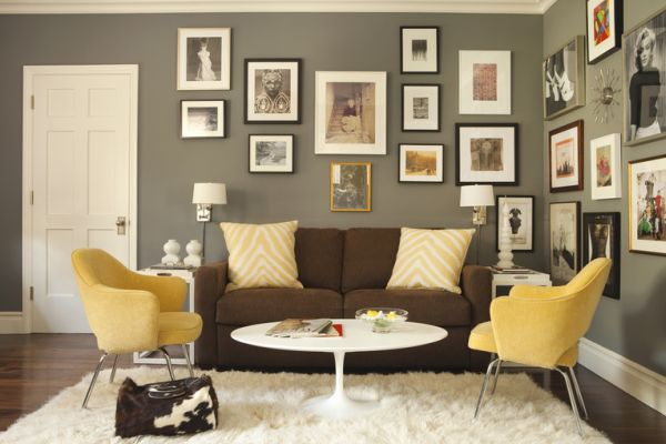 Mustard and ChocolateCovered Rooms Ideas Inspiration