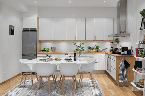 Smart Floor Plan And Use Of Space In Small Nordic Apartment