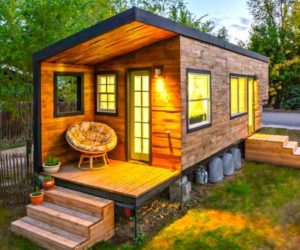 The Tiny Tack House A Wooden Mobile Home Built On A Trailer