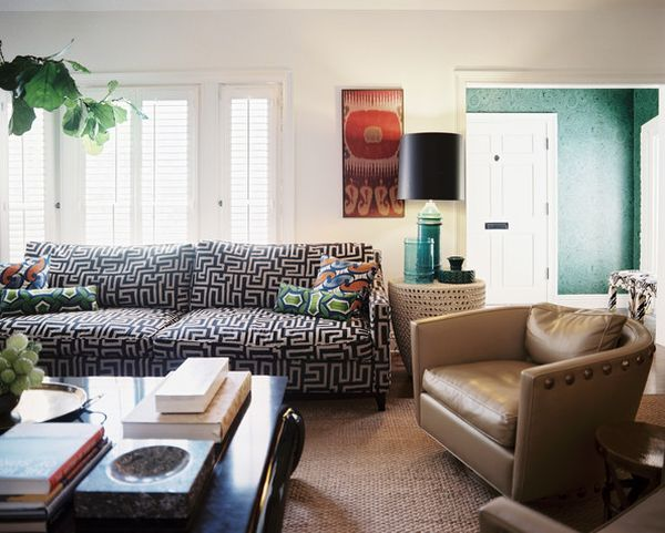 Sofas That Sing Chic Prints And Patterns On Your Biggest Piece Of Best Patterned Settee