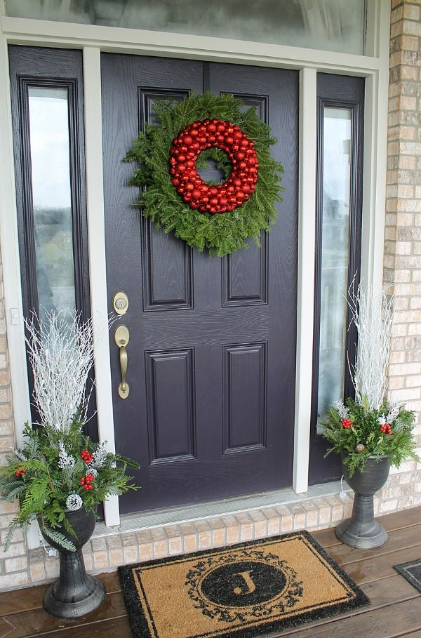 how to decorate your front door for the holidays the lovely look of simple festivity - How To Decorate Your Door For Christmas