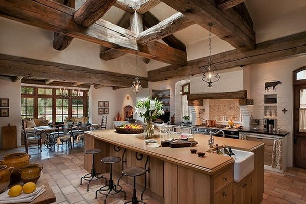 Rustic Farmhouse Kitchen top 10 beautiful rustic kitchen interiors for a warm cooking