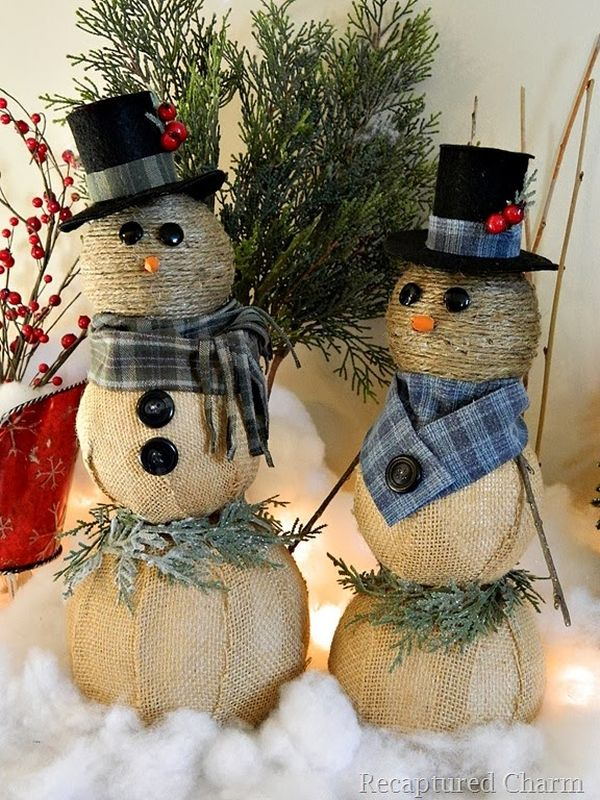10 Simple Snowmen Ideas For Your Holiday Decor