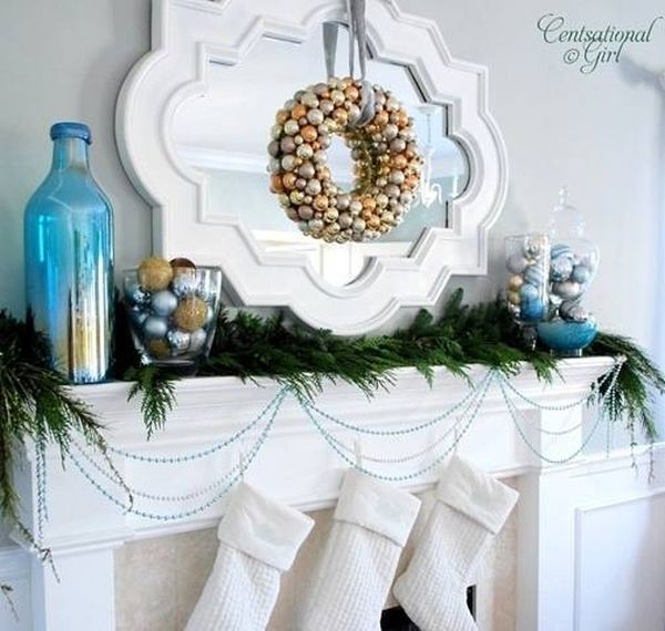 view in gallery - Aqua Christmas Decorations