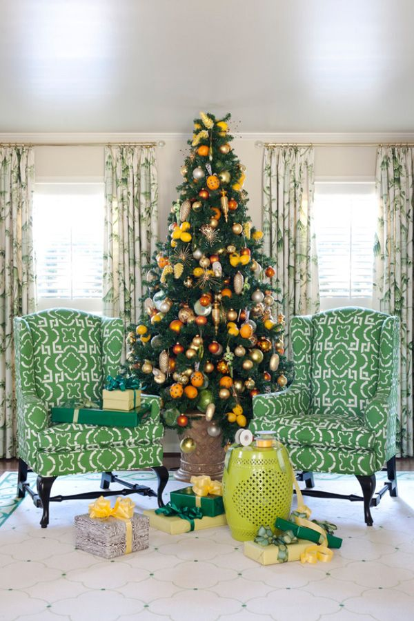 8 distinct and fabulous christmas tree styles - Orange Coloured Christmas Tree Decorations