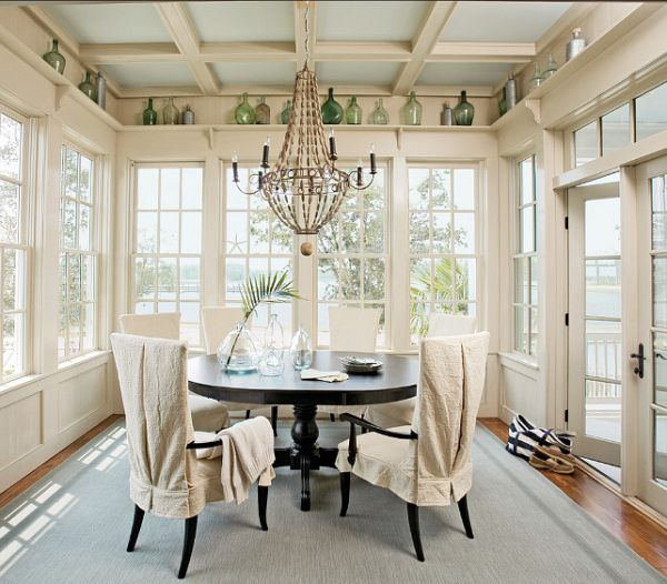 Sunroom Dining Room Ideas: Large Windows And How To Decorate Around Them