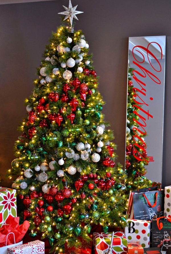 contemporary christmas tree - Pictures Of Pretty Decorated Christmas Trees