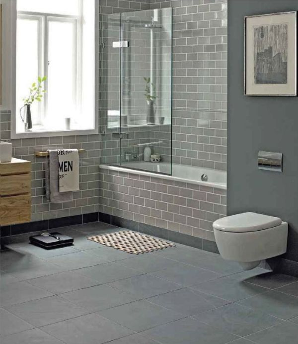blue gray bathrooms