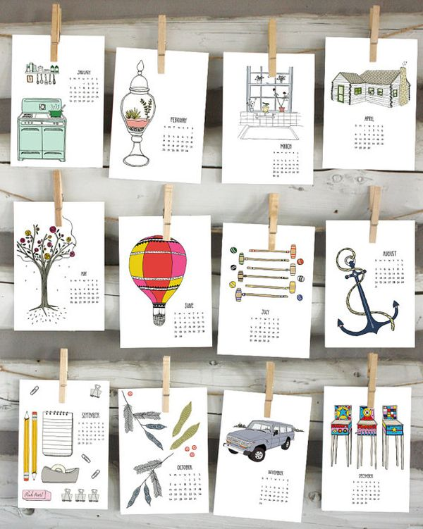Calendar Design Ideas Ks : Get ready for with a beautiful and modern wall calendar