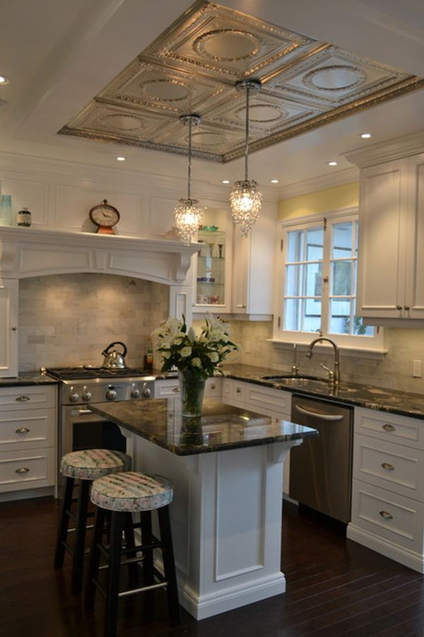 20 architectural details of a stand out ceiling for Small victorian kitchen designs