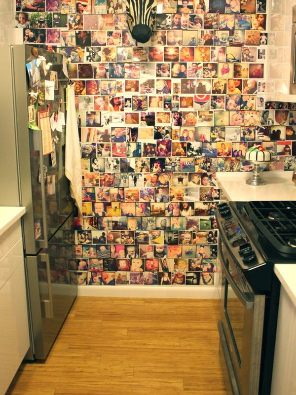 Ideas For Hanging Pictures On Wall Without Frames photo collages without frames: ideas and inspiration