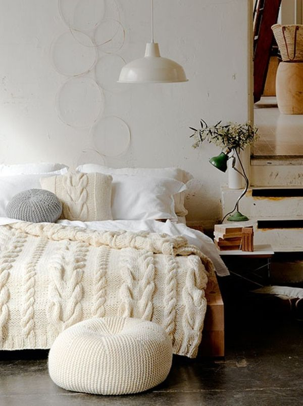 Integrate Knits Into Your Winter Decor