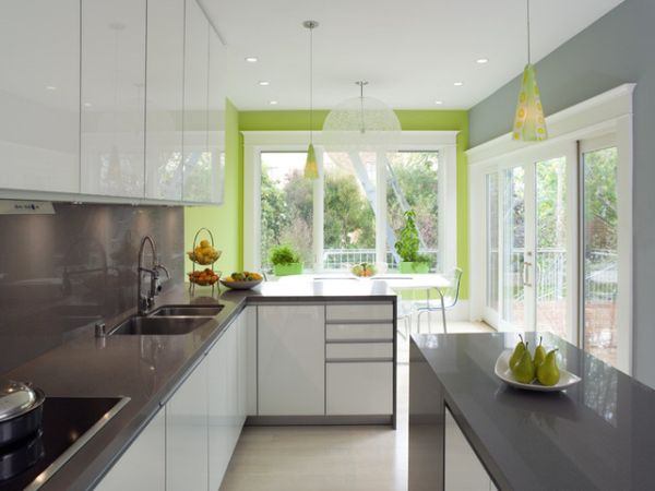 Grass Green And Grey Rooms Ideas And Inspiration - Green and grey kitchen ideas