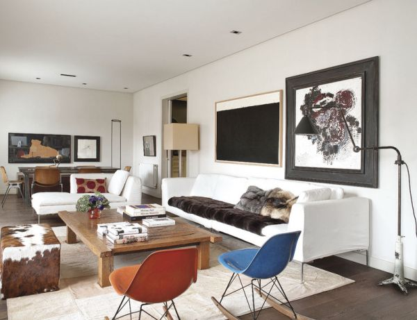 Muebles Antiguos Modernos : Narrow th floor apartment filled with personal touches of