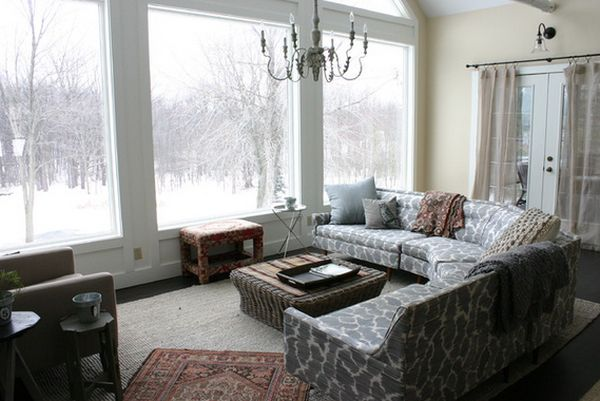Large windows and how to decorate around them - How to decorate room ...