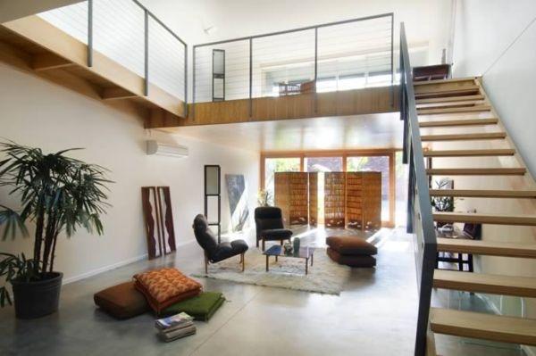 25 open concept modern floor plans for Modern flat interior design ideas