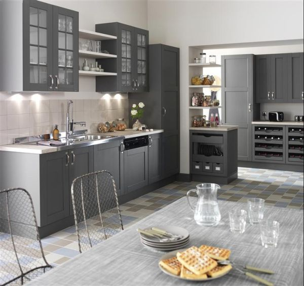 Shades Of Grey The New Neutral Foundation For Interiors - Tiles to go with a grey kitchen