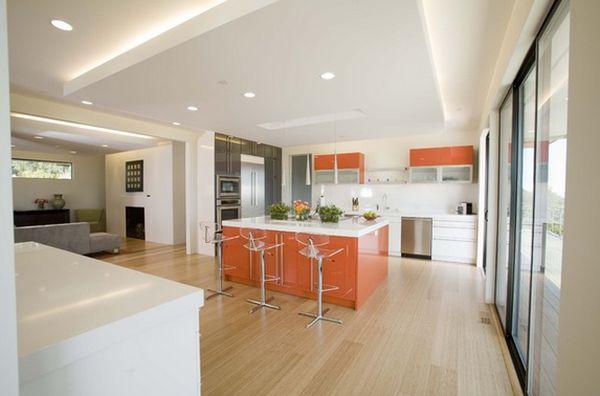 Orange Kitchen Modern Chairs