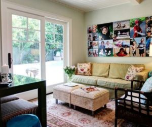 Amazing Digital Photo Frame To Match The Room Design · Photo Collages Without Frames:  Ideas And Inspiration Good Ideas