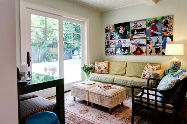 Photo collages without frames ideas and inspiration - Picture wall ideas for living room ...