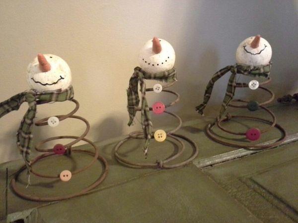 10 Simple Snowmen Ideas for your Holiday Décor