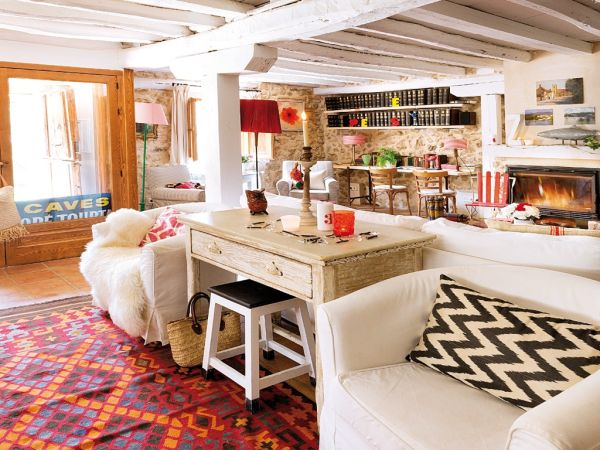 lovevly rustic cottage interior featuring a surprising