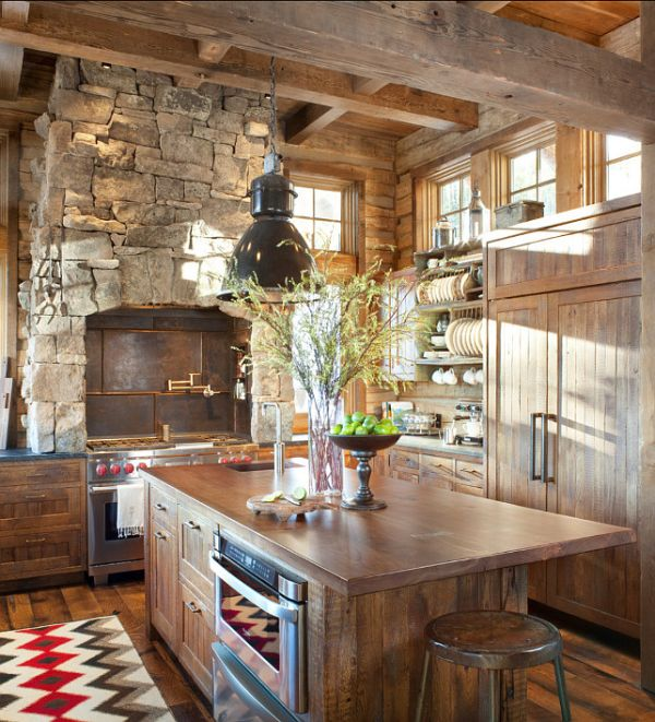 Exposed Wood Beams Kitchens