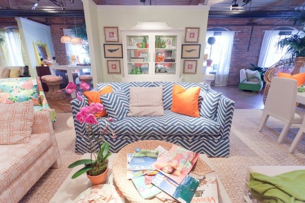 Bon View In Gallery. Blue U2013 This Chevron Patterned ...