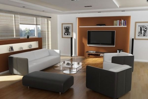 How to secretly arrange furniture around the tv for Living room furniture arrangement with tv