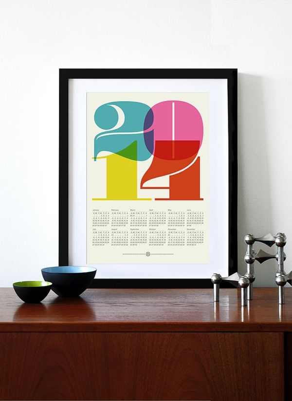 Get Ready For 2014 With A Beautiful And Modern Wall Calendar