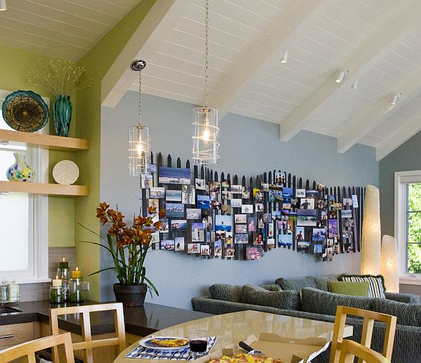 Photo collages without frames ideas and inspiration for Picture wall layout