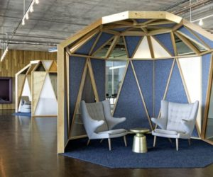 The New Cisco San Francisco Offices Feature Wooden Pavilions & Sunken Seating Areas
