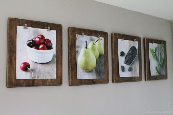 10 easy diy photo frame designs for Picture frame with clips diy