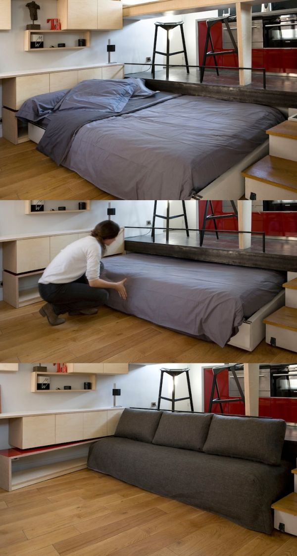 Clever And Space Saving Beds Which You Can Slide Away And Hide