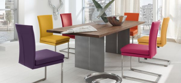 Modern furniture dining table White View In Gallery Colorful Modern Chairs Homedit 50 Modern Dining Room Designs For The Super Stylish Contemporary Home