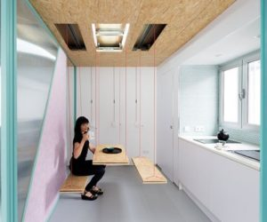 Moving Walls & Secret Furniture: The Delightfully Flexible Architecture Of A Didomestic Apartment