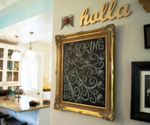 15 Framed Chalkboards – Customizable And Also Functional Accent Details