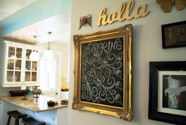 15 Framed Chalkboards  Customizable And Also Functional Accent Details