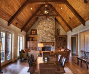 Wooden Beams And Stone – The Perfect Combination For A Cabin-Like Feel