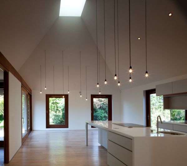 High Ceiling Lighting cords lighting – simple design but with a big impact