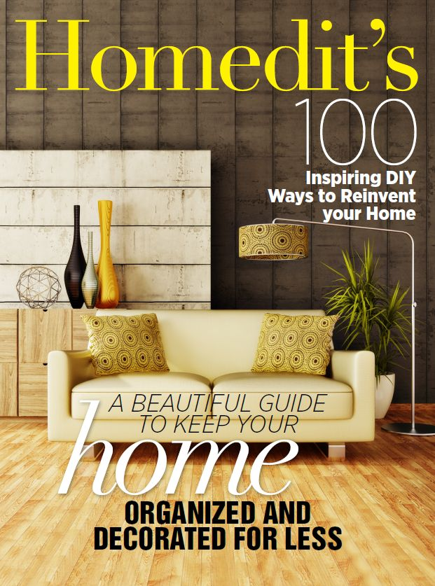 "Fall In Love With Homedit's New eBook: ""100 Inspiring DIY Ways To Reinvent Your Home"""