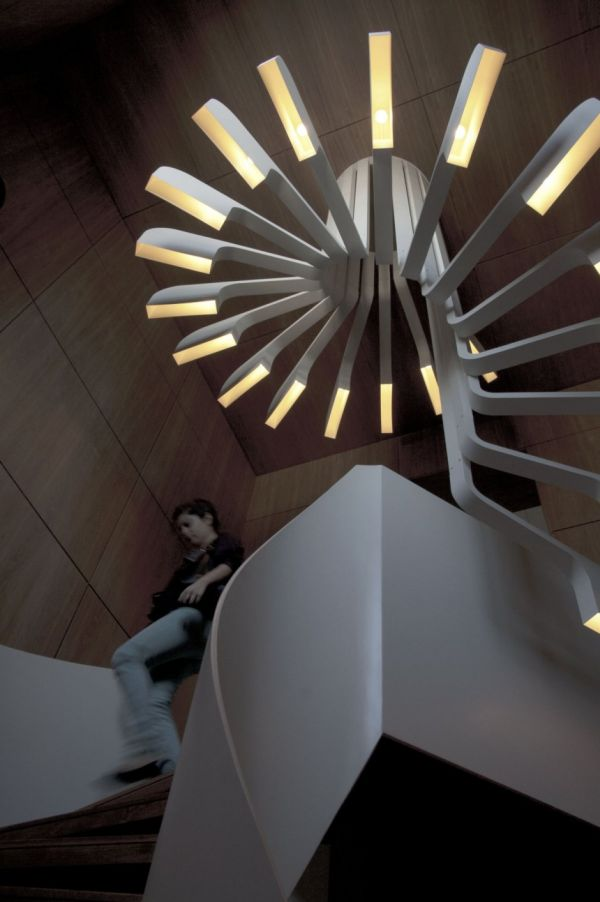 Attractive Lighting Spiral Stairs. Awesome Ideas