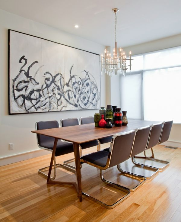 Modern Dining Room Designs For The Super Stylish Contemporary Home - Very modern dining table