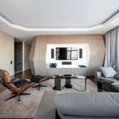 Dominion  A Futuristic Moscow Apartment With Custom Interior Design